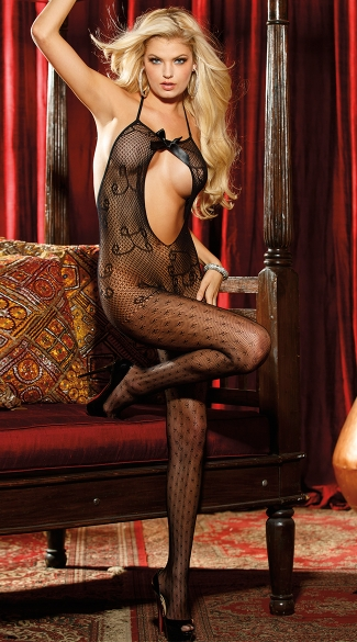 All Dolled Up Fishnet Bodystocking, Fishnet Body Suits, Open Crotch Lingerie
