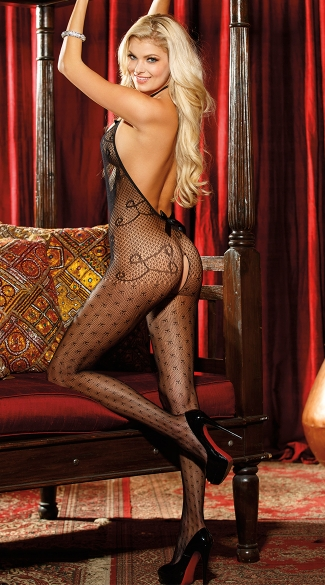 All Dolled Up Fishnet Bodystocking