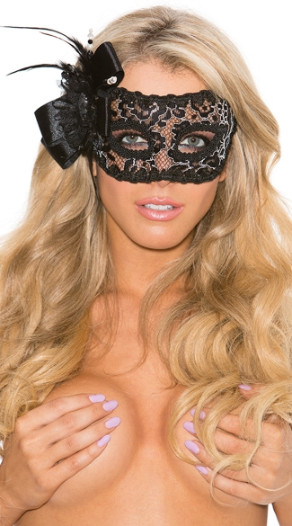 Floral Embroidered Lace Eye Mask