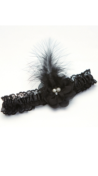 Black Feather Garter