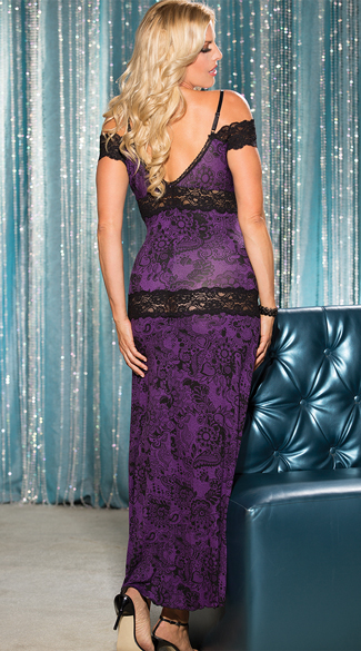 Plus Size Soft and Supple Lace Gown