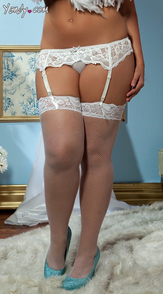Plus Size Lace Affair Garter Belt