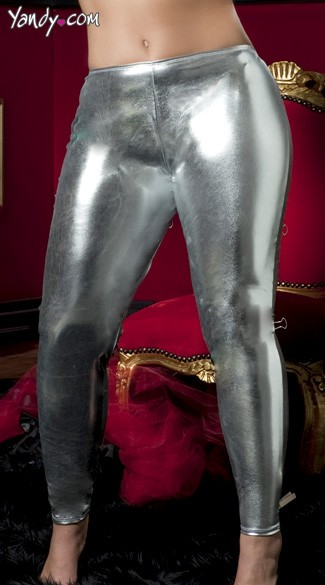 Plus Size Shiny Stretch Lame Tights