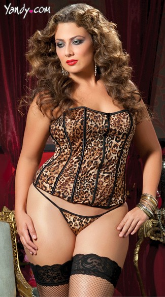 Plus Size Basic Instinct Corset And Thong