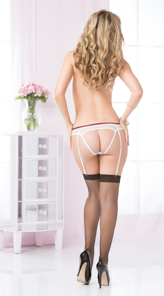 Fishnet Panty with Garters