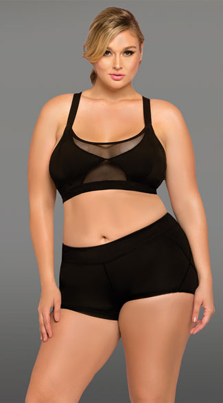 Plus Size Black Stow And Go Gym Set Plus Size Stow And Go