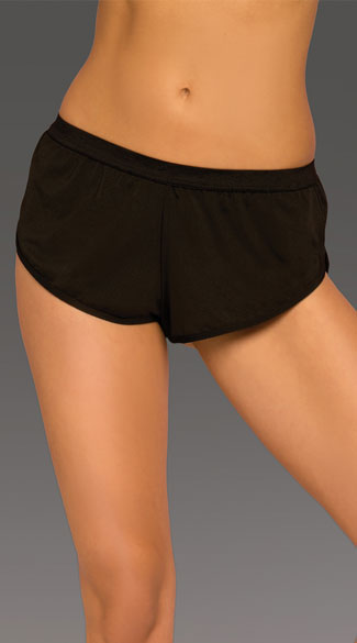 Athletic Mesh Dolphin Shorts, Black Mesh Shorts, Mesh Gym Shorts