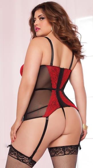 Plus Size Sweet Tease Bustier Set