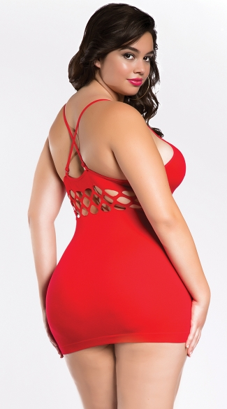 Plus Size Seamless Dress with Cut Out Midsection
