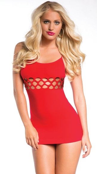 Seamless Dress with Cut Out Midsection