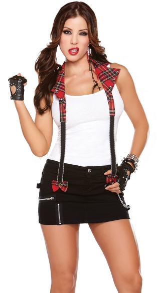 Rebel Suspenders, Punk Rock Suspenders, Puck Rock Halloween Costume