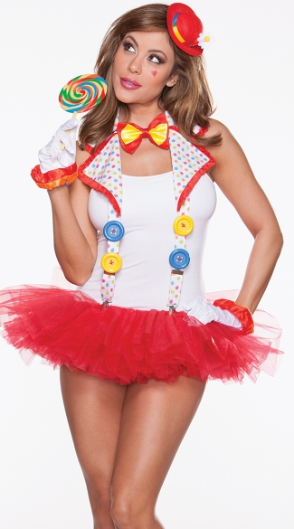 Clown Suspenders, Clown Costume Accessories, Clown Halloween Costume