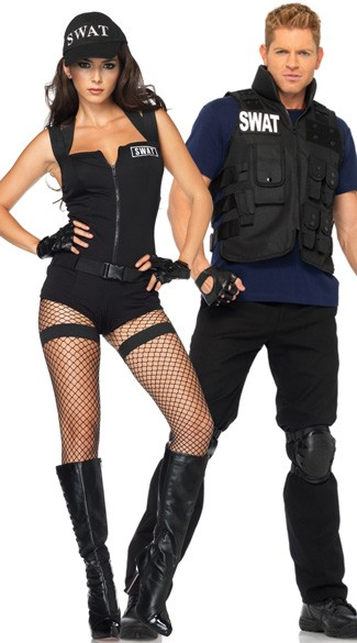 Swat Hottie Costume, Sexy SWAT Costume, SWAT Womens Costume, Black SWAT Costume, Mens SWAT Team Costume, Mens SWAT Commander Halloween Costume, Mens SWAT Costume
