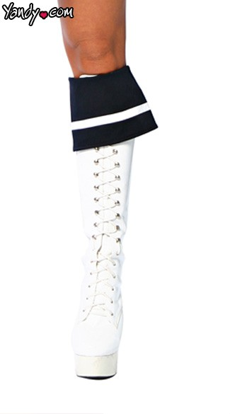 Sailor Boot Cuffs, Sailor Costume Accessories, Sailor Girl Costume