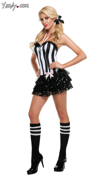 Sassy Ref Costume, Referee Dress, Adult Referee Halloween Costume