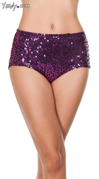 Glamorous Sequin High-Waisted Shorts