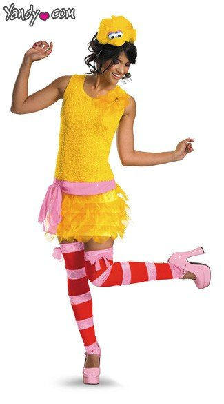Big Bird Costume, Adult Big Bird Costume, Adult Big Bird Halloween Costume, Adult Sesame Street Big Bird Costume
