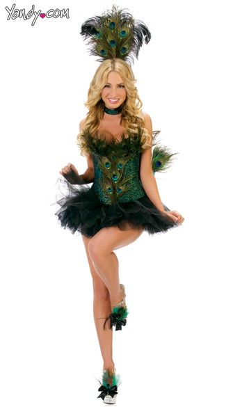 Sexy Peacock Costume, Deluxe Adult  Peacock Costume, Sexy Peacock Halloween Costume, Sexy Peacock Adult Costume