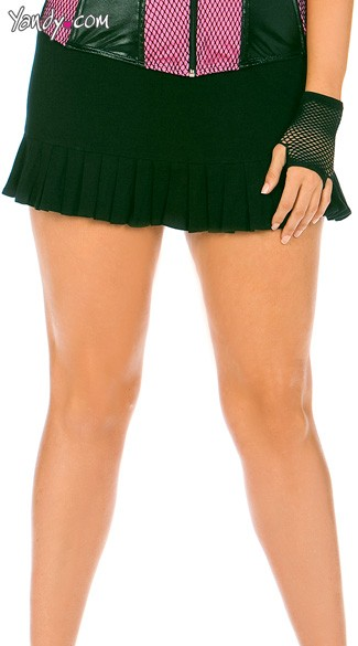 Plus Size Pleated Skirt, Plus Size Mini Skirt
