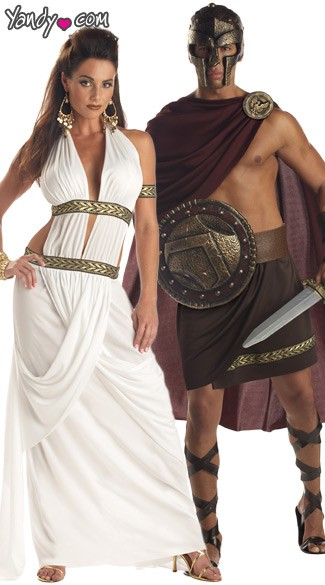Spartan Couples Costume, Sexy Spartan Couples Costume, Spartan King and Queen Couples Costume, Greek Couples Costume