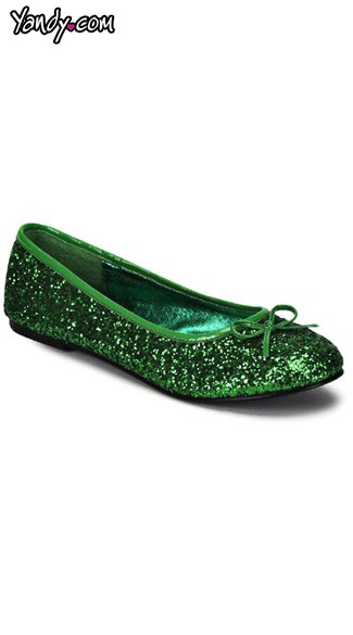 Star Glitter Flat Shoes