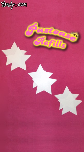 Star Shape Pastease Refill, Star Pasties Refills