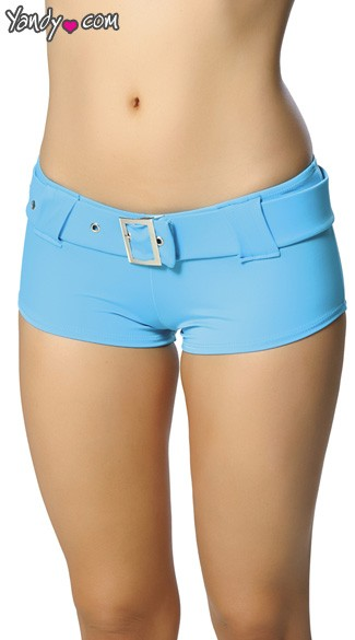 Belted Booty Shorts, Belted Hot Pants, Go Go Shorts
