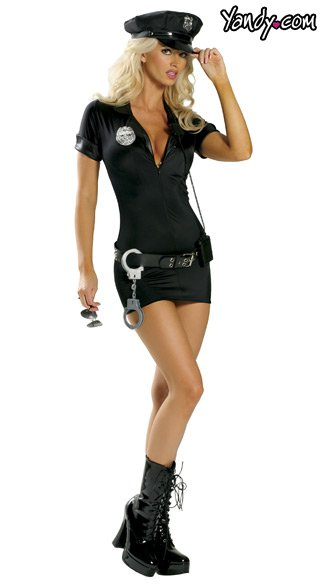 Traffic Cop Costume. Women\'s Cop Outfit, Women\'s Cop Dress Up, Dress Up Cop Outfit, PD Outfit