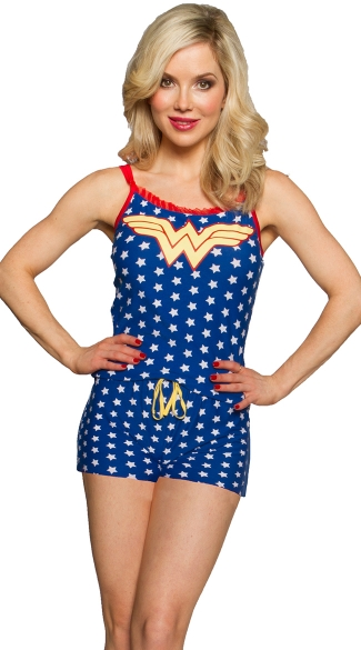 Wonder Woman Romper Pajamas, Wonder Woman Pajamas, Superhero Pajamas