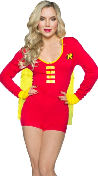 DC Comics Robin Romper with Cape