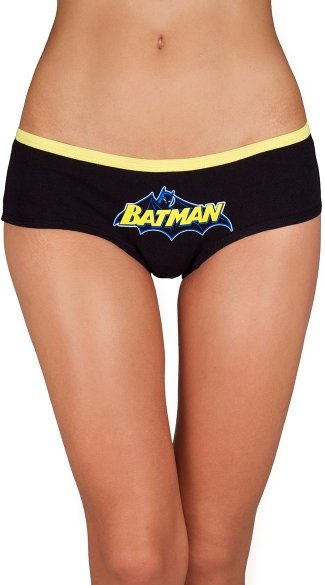 Plus Size Batman Glow in the Dark Panty 3 Pack, Plus Size Batman Panty, Plus Size Superhero Panty