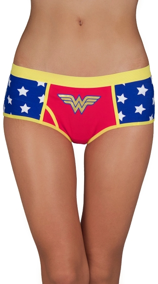 Wonder Woman Panty, Superhero Panty, Starred Panty