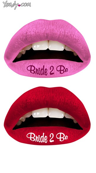 Bride 2 Be Lip Kit from Violent Lips, Bride to Be Print Temporary Lip Tattoo