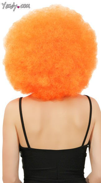 Orange Jumbo Clown Wig