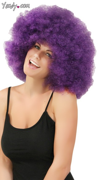 Purple Jumbo Clown Wig