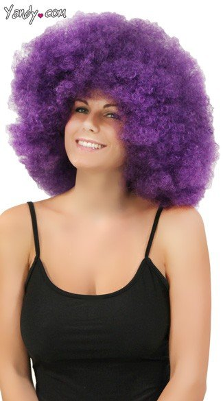 Purple Jumbo Clown Wig, Purple Clown Wig, Purple Afro