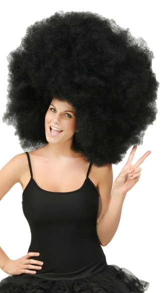 Black Super Size High Afro, High Afro