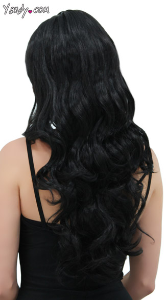 Long Curly Onyx Black Wig