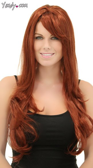 Long Layered Wig in Cognac