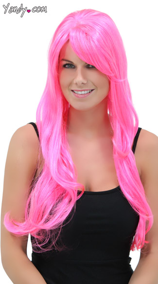 Pink Explosion Long Wig
