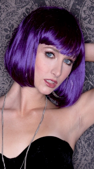 Rich Purple Bob Wig
