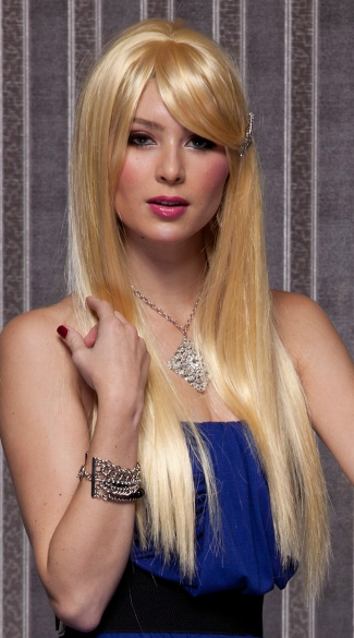 Apricot Blonde Long Wig, Blush Divine Apricot Blonde Wig, Long Blonde Wig