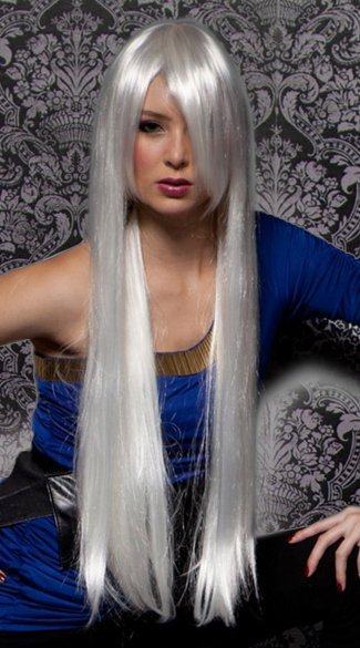 White Extra Long Straight Wig, Blush Fate Snow Wig, Long White Wig