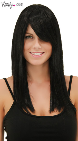 Onyx Straight Wig, Blush Fortune Onyx Wig, Black Wig