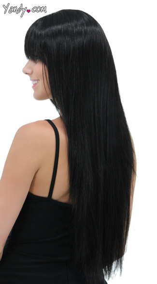 Deep Onyx Straight Layered Wig