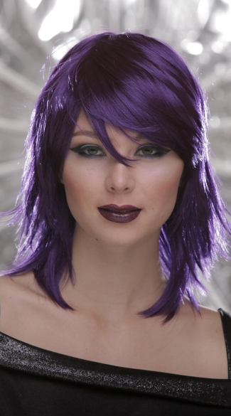 Purple Rocker Layers Wig