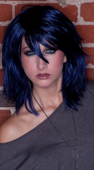 Midnight Blue Rocker Layers Wig