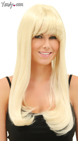 California Blonde Sweetheart Wig, Blush Kelly Cali Blonde Wig, Long Blonde Wig