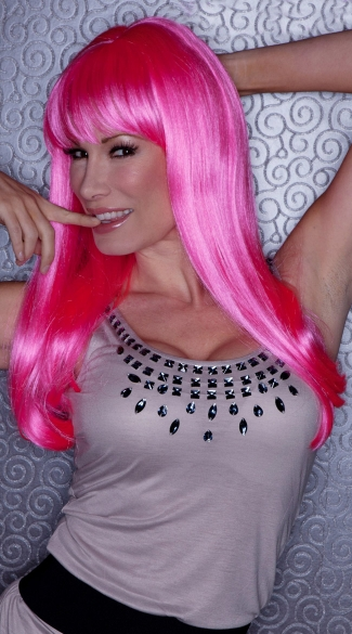 Pink Explosion Sweetheart Wig