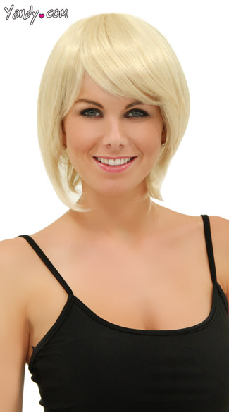 California Blonde Short Bob Wig, Blush Mystic Cali Blonde Wig, Short Blonde Wig